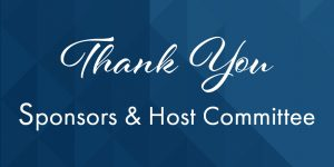 Thank you to our sponsors & host committee